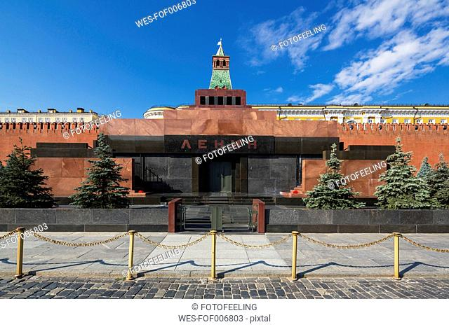 Russia, Moscow, Red Square with Lenin's Mausoleum