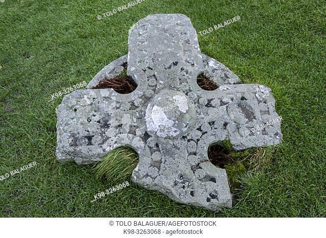 Kilmuir Cemetery, Kilmuir, (Cille Mhoire), west coast of the Trotternish Peninsula, Isle of Skye, Highlands, Scotland, United Kingdom