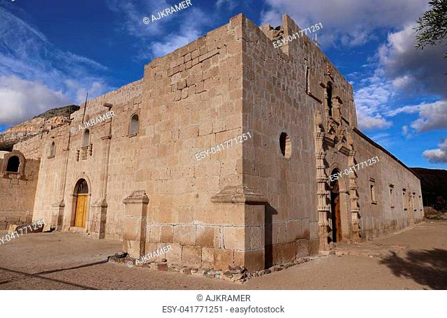 Mission San Francisco de Borja, build at 1762 by the Jesuit Wenceslaus Linck at the Cochimi settlement of Adac