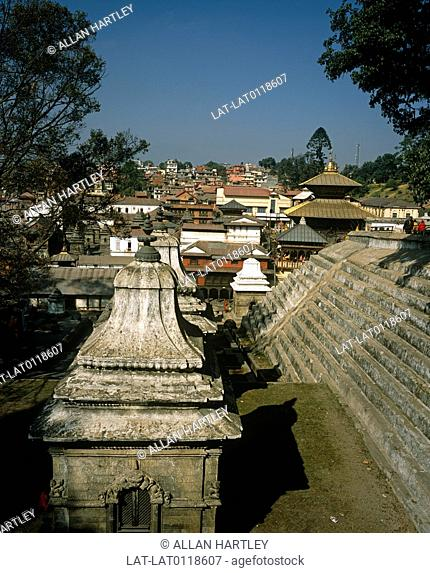 The Pashupatinath temple is a Hindu temple on the shore of the Bagmati river on the eastern part of Kathmandu