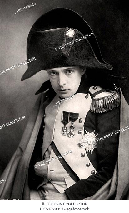 John Martin-Harvey (1863-1944), English actor, early 20th century. Harvey is seen here in the role of 'Napoleon' from The Exile