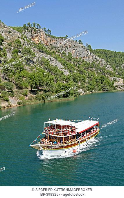 Boat excursion from Skradin to Krka National Park, Dalmatia, Croatia