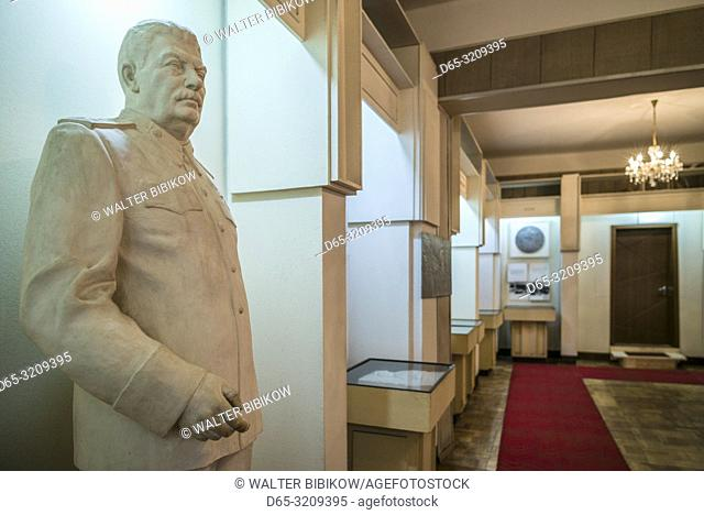 Georgia, Gori, War Museum, statue of former Soviet dictator Joseph Stalin