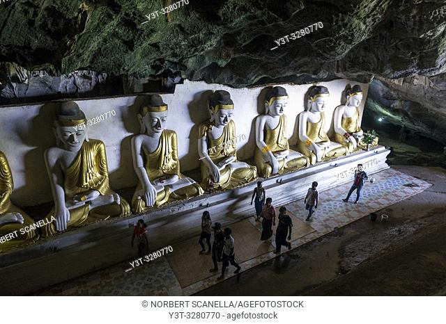 Myanmar (formerly Burma). Karen State. Hpa An. Ya Teak Pyan cave