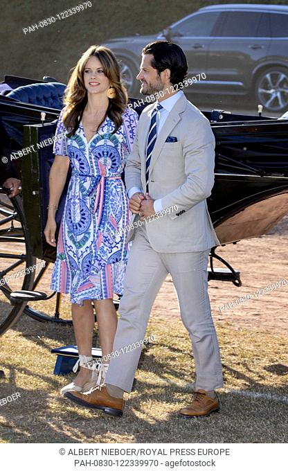 Prince Carl Philip and Princess Sofia of Sweden at the Borgholm Sports Arena in Borgholm, on July 14, 2019, .to attend the celebration of Crown Princess...