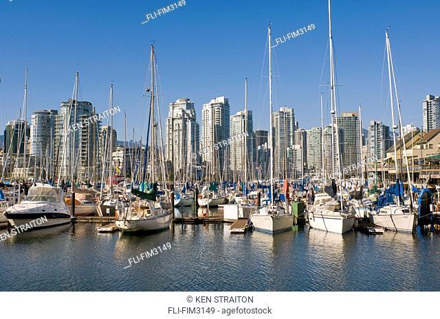 City Skyline and False Creek Harbour, Vancouver, British Columbia