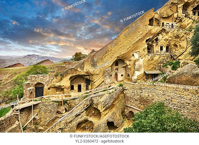 Picture & image of the rock caves of David Gareja Georgian Orthodox monastery, Mount Gareja, Kakheti Region, Georgia (country)
