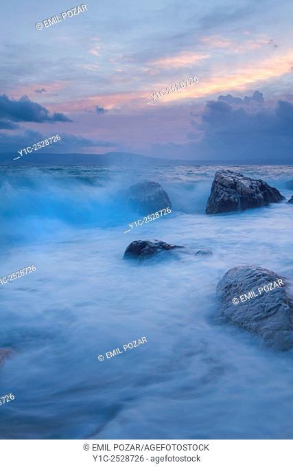 Rough sea Dalmatia Croatia