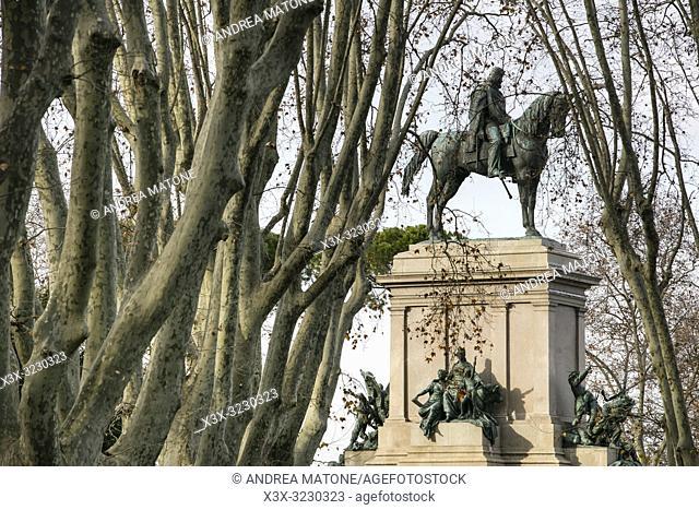 Equestrian statue of Garibaldi, Piazzale Garibaldi, Rome, Italy