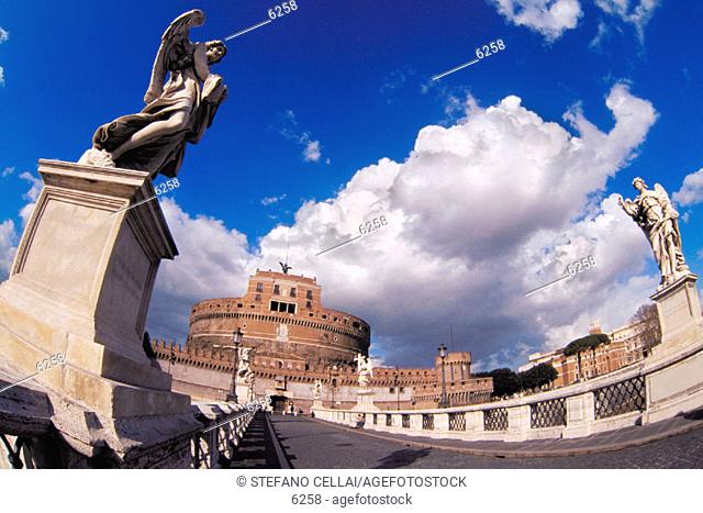 Sant'Angelo Castle and Bridge. Rome. Italy