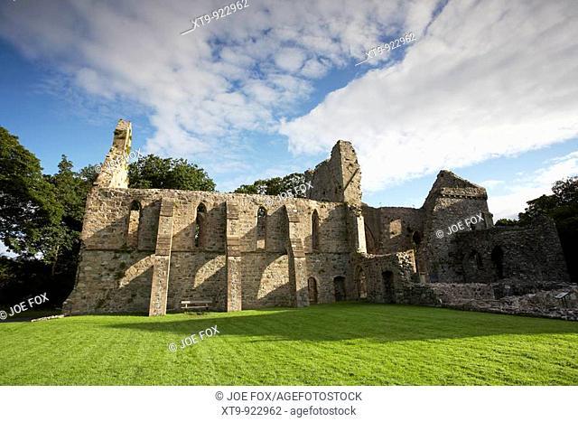ruins of greyabbey cistercian abbey county down northern ireland