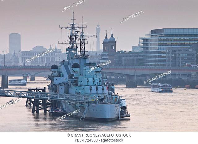 HMS Belfast Tourist Attraction, River Thames, London, England