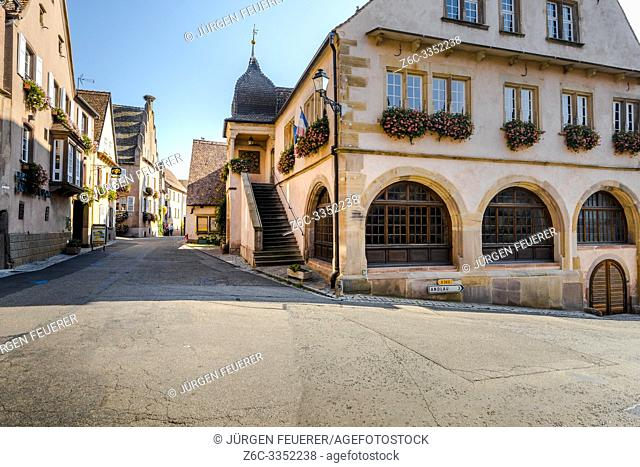 scenic village Mittelbergheim, Alsace Wine Route, France, association member of the most beautiful villages of France