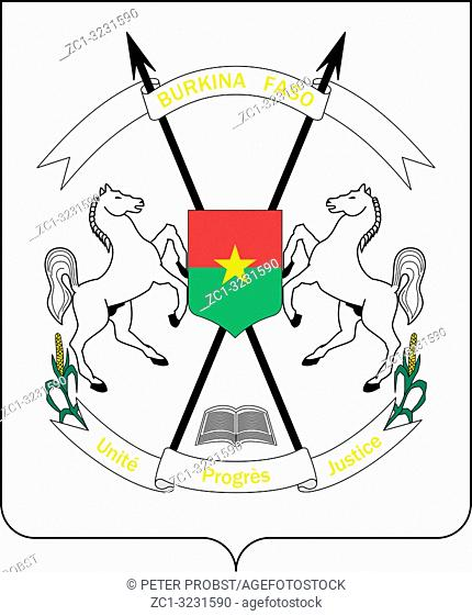 National coat of arms of the Republic of Burkina Faso