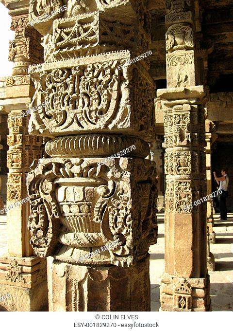 Carved Mughal Pillars