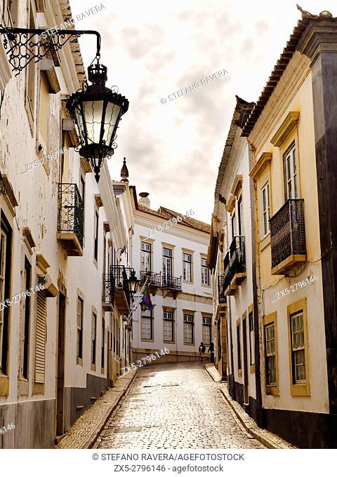 Street in the old town of Faro - Algarve region, Portugal