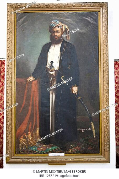 Picture of Sultan Seyyid Barghash b. Said, 1870 - 1888, Sultan of Zanzibar, National Museum, House of Wonders, Stone Town, Zanzibar, Tanzania, Africa