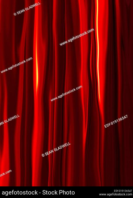 Red silk drapes