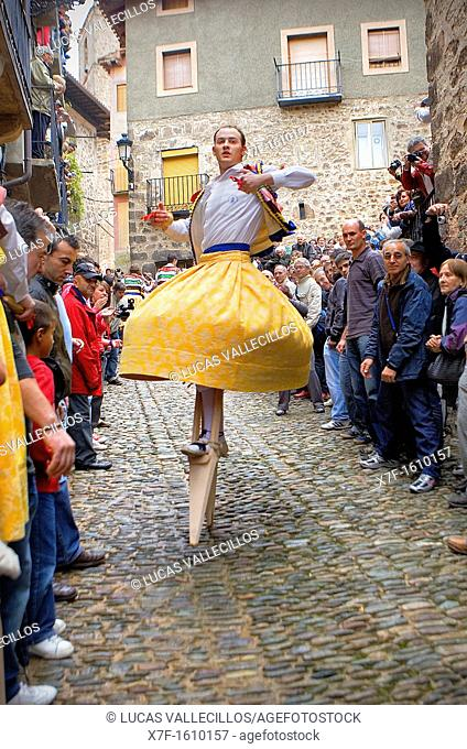 'Danza de los Zancos' folk dance, Anguiano,La Rioja, Spain