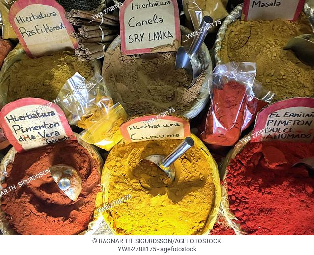 Fresh Spices, local market, Alicante, Spain