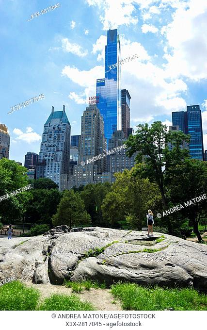 Skyscrapers over Central park. Manhattan. New York city, USA