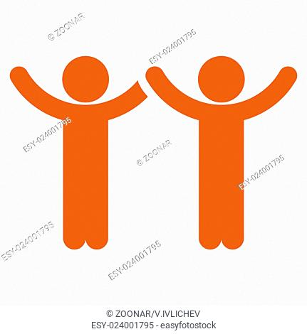 Hands Up Kids Icon