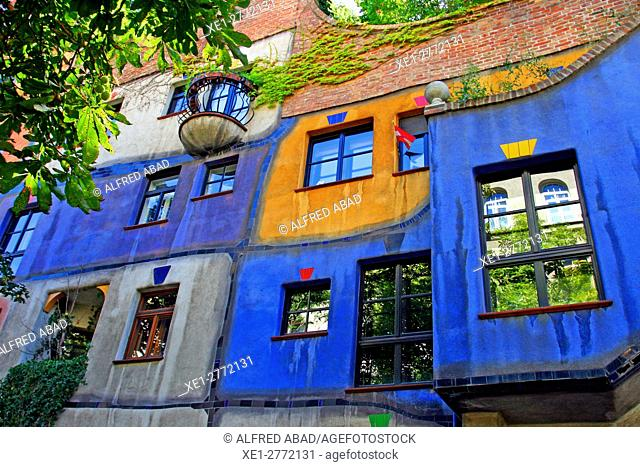Residential building of the Hundertwasserhaus, Vienna, Austria