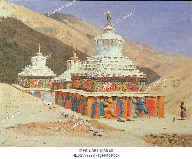 Chorten in Ladakh, 1875. Found in the collection of the State Tretyakov Gallery, Moscow