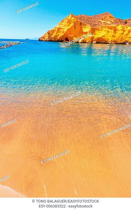 Cocedores beach in Murcia near Aguilas at Mediterranean sea of spain