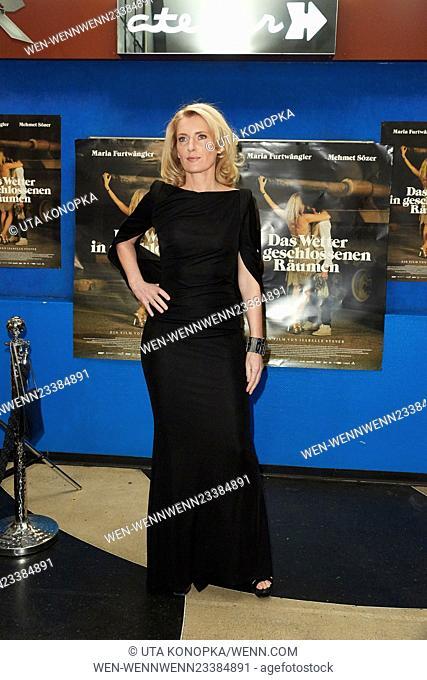 Celebrities at the premiere of the movie Das Wetter in geschlossenen Raeumen Featuring: Maria Furtwängler Where: Düsseldorf