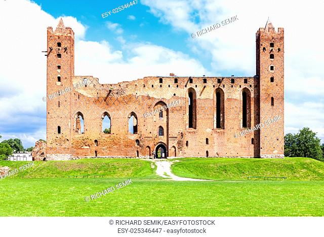 ruins of castle in Radzyn Chelminski, Kuyavia-Pomerania, Poland