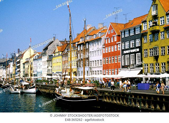 Nyhavn ('New Harbor'). Copenhagen. Denmark
