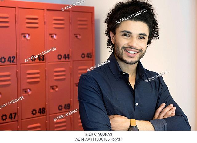 Male college student, portrait