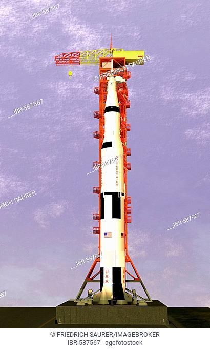 Saturn V rocket launch complex