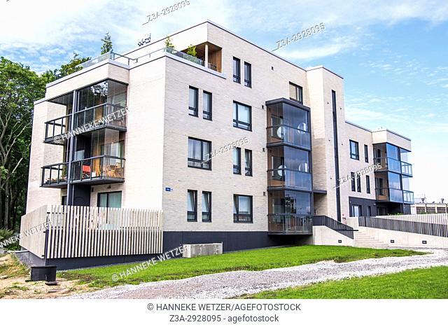 Newly built modern architecture in the Kalamaja neighborhood of Tallinn, Estonia