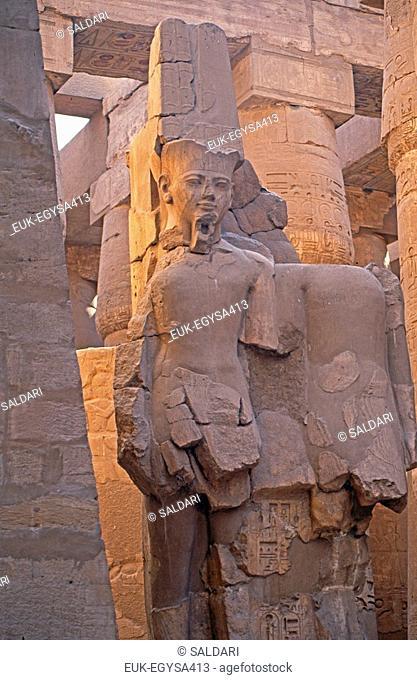 Egyptian god Amon Amun,Karnak Temple,Egypt