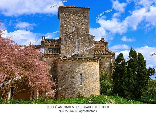 Carolingian Oratory, Germigny-des-Prés, Loire Valley, UNESCO World Heritage Site, Loire River, Loiret department, Centre region, France, Europe