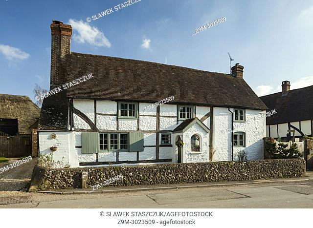 Traditional cottage in Amberley village, West Sussex, England