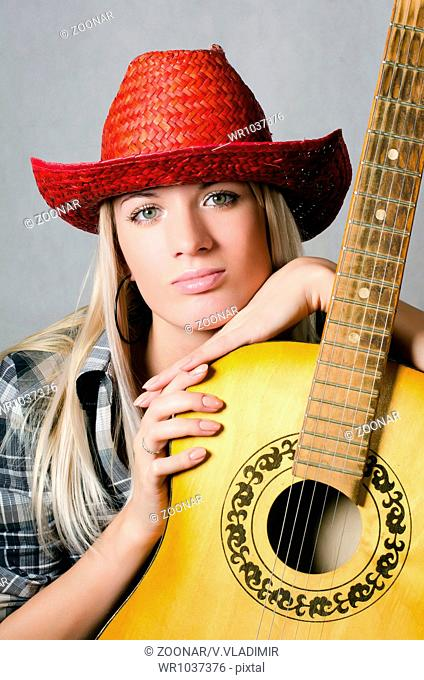 652271c036ca5 The beautiful girl in cowboy s hat