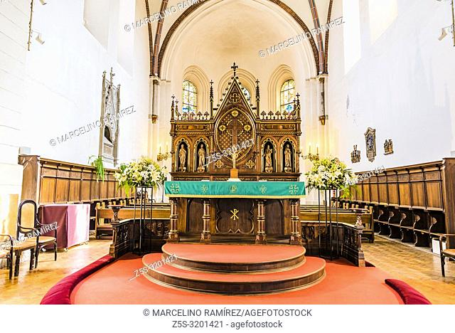 Altar and apse of Riga Cathedral. Riga Cathedral is the Evangelical Lutheran cathedral. Riga, Latvia, Baltic states, Europe