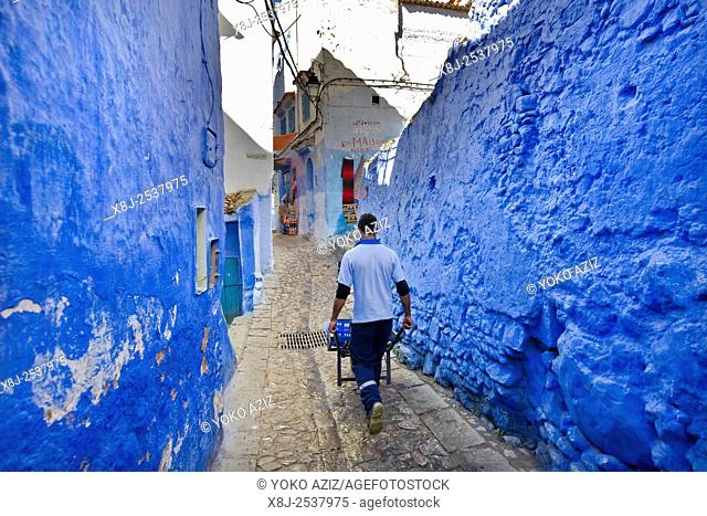 Morocco, Chefchaouen, daily life