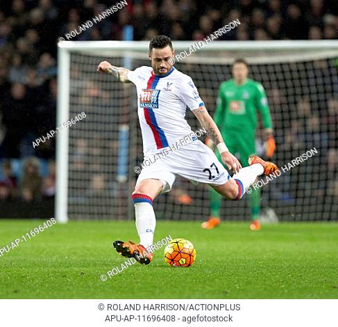 2016 Barclays Premier League Aston Villa v Crystal Palace Jan 12th. 12.01.2016. Villa Park, Birmingham, England. Barclays Premier League