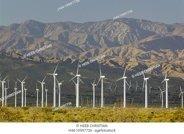 SA, California, SOCAL, Palm Desert, Palm Springs, wind mill, energy, Mojave, desert