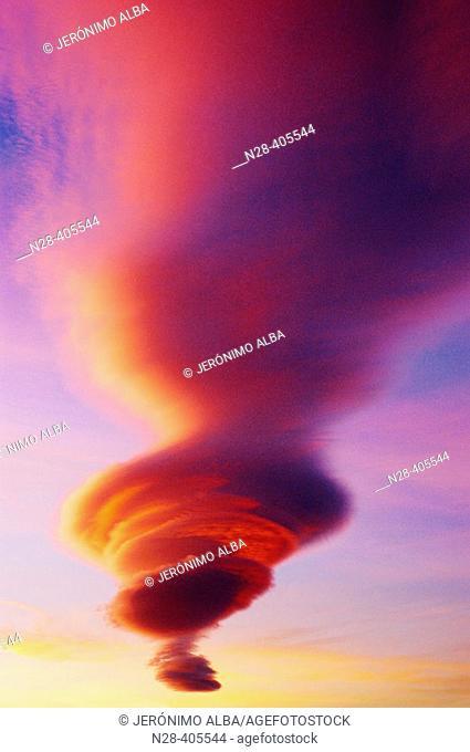Cloud formations, Cabo de Gata-Nijar Natural Park. Almería province, Andalusia, Spain