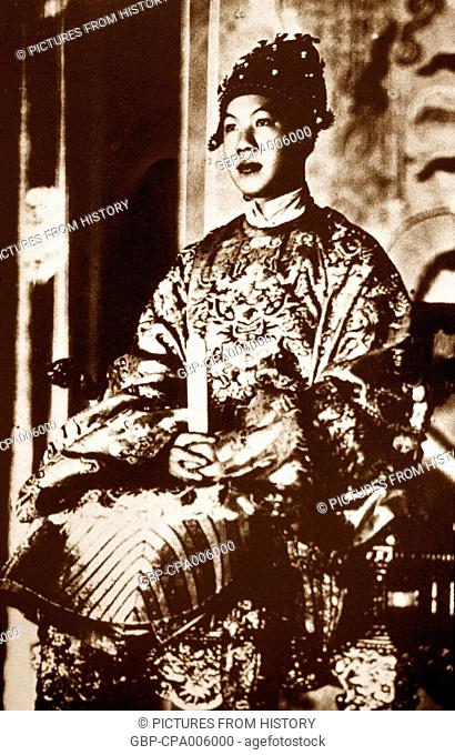 Vietnam: Emperor Bao Dai (22 October 1913 – 30 July 1997) in his coronation robes (1932). Bao Dai was the 13th and last emperor of the Nguyen Dynasty