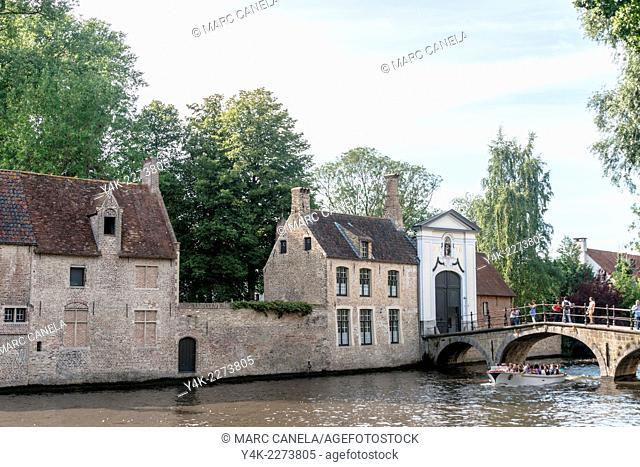 Minnewater, Bruges, West Flanders, Belgium