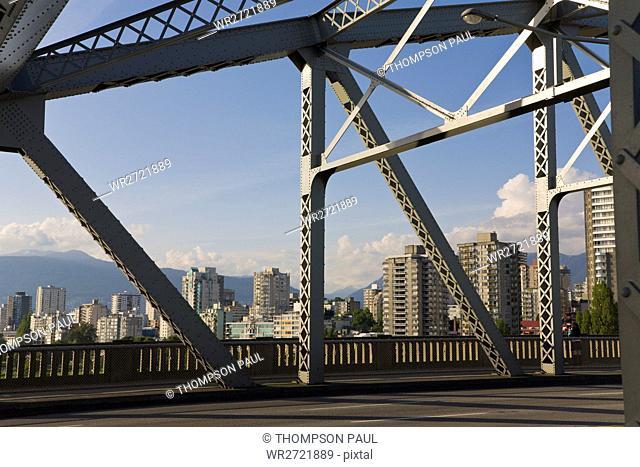 Burrard Bridge, Apartments Blocks, Vancouver, Brit