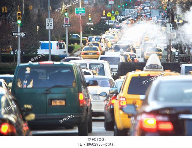 USA, New York state, New York city, traffic jam