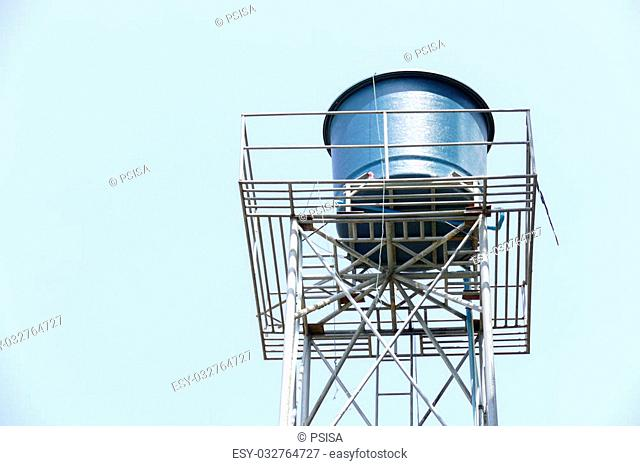 water tank for water storage and generating on high tower