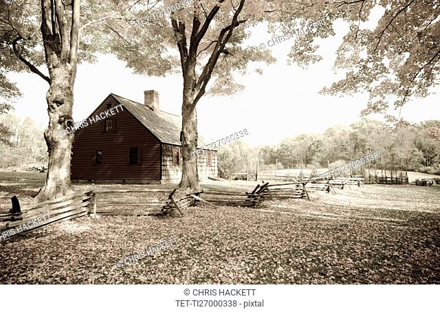 New Jersey, Morristown, Wooden house
